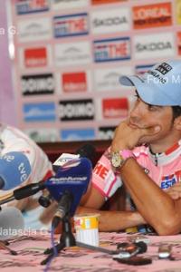 Alberto Contador e la Coppa del Giro